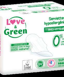 Love and Green - Assorbenti flusso super con ali